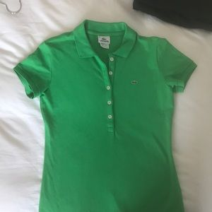 Lacoste kelly green slim fit shirt